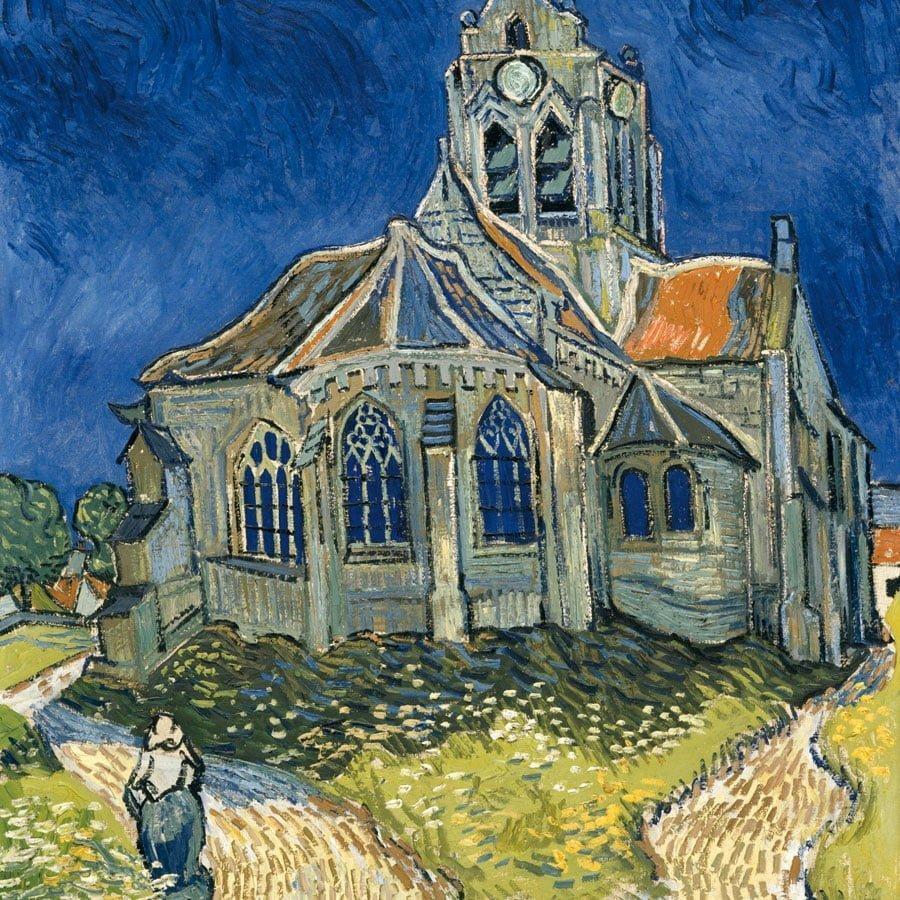 Tableau de Van Gogh l'église d'Auvers-sur-Oise